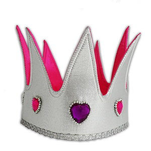Jewel Queen Fancy Dress Crown - Front - Lucy Locket