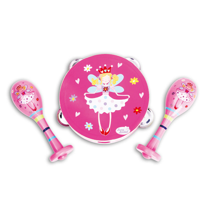 Fairy Tale Wooden Maracas and Tambourine Set - Lucy Locket