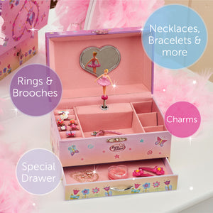 Fairy Musical Jewellery Box - Main Image - Lucy Locket - Infographic 3