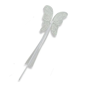 White Sparkly Angel Wings & Wand Set - Wand - Lucy Locket