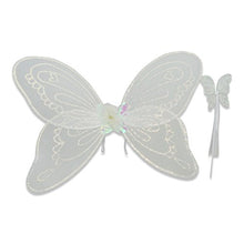 White Sparkly Angel Wings & Wand Set - Set - Lucy Locket