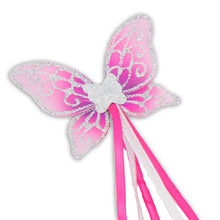 Glitter & Jewel Fairy Wings & Wand Set - Pink & Silver - Wand - Lucy Locket