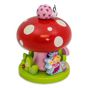 Fairy Tale Toadstool Wooden Music Box - Side View 1 - Lucy Locket