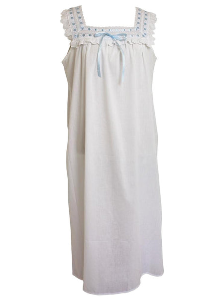 Amanda - Pure Cotton Sleeveless Ladies Nightdress