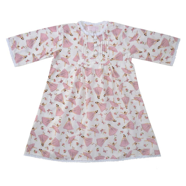 Pure 100% Cotton Girls Nightdress - Ballerina
