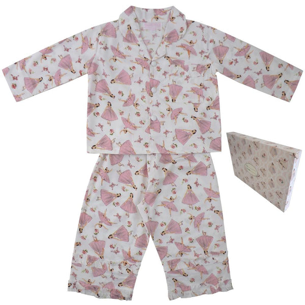 Ballerina Pure Cotton Girls Pyjamas