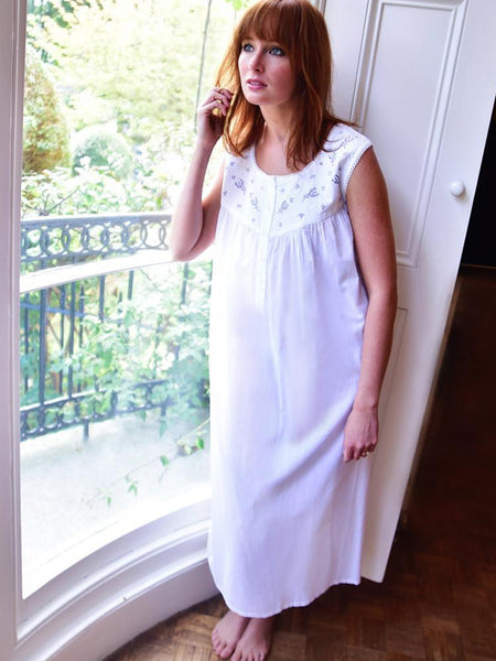 Pure White Cotton Ladies Nightdress
