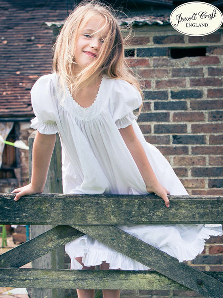 Pure Cotton Girls Nightdress - Clementine