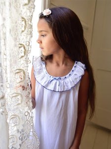 White Pure Cotton Girls Nightie