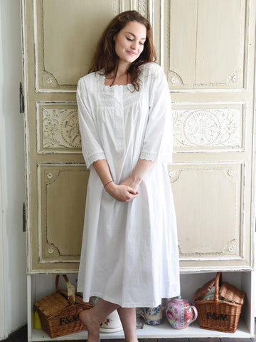 100% Cotton Long Sleeve Nightie