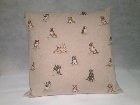 Handmade Cotton Cushion- Dogs - Classic Cotton
