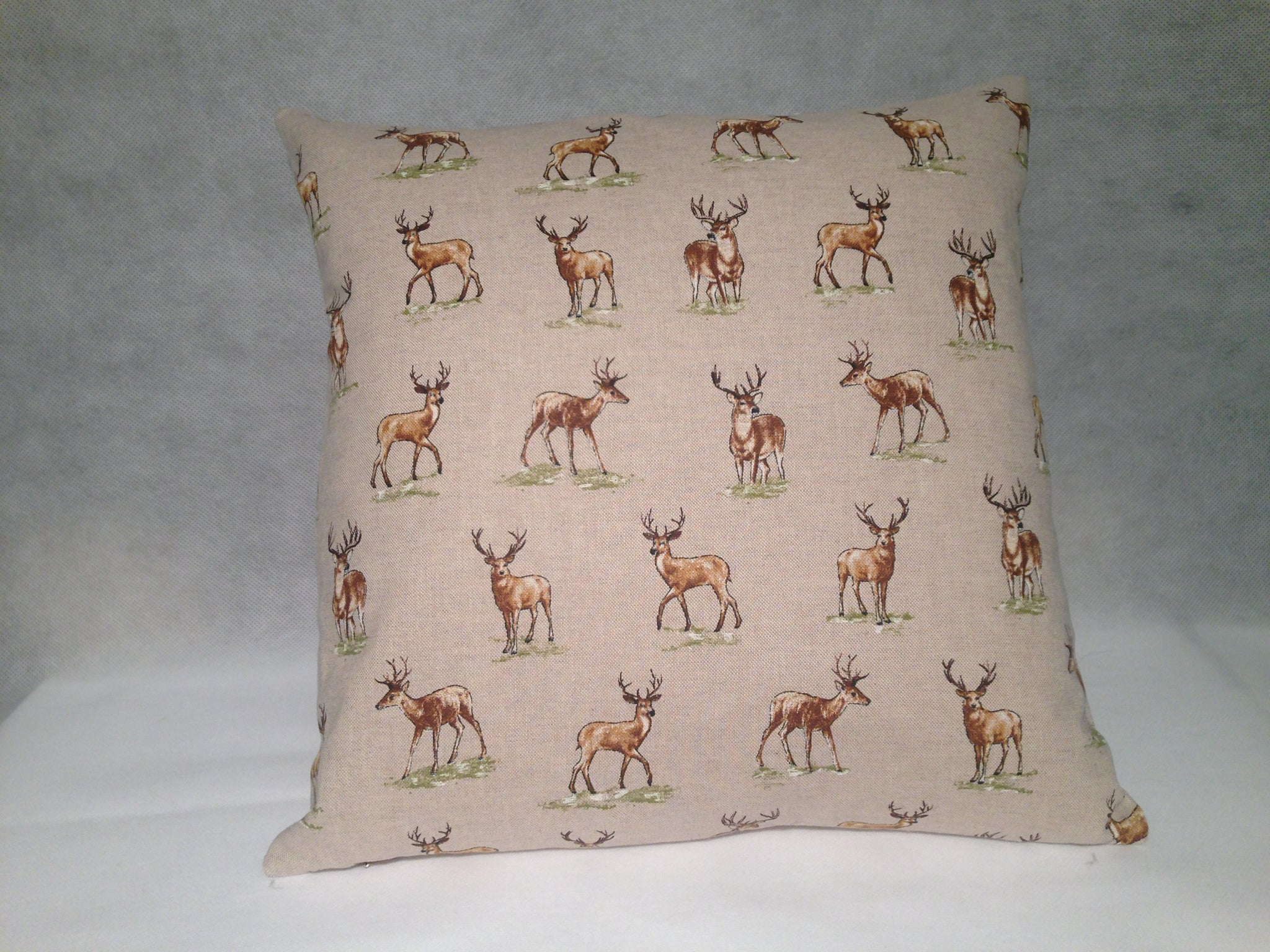 Handmade Cotton Cushion- Stag - Classic Cotton