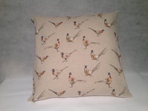 Handmade Cotton Cushion- Pheasant - Classic Cotton