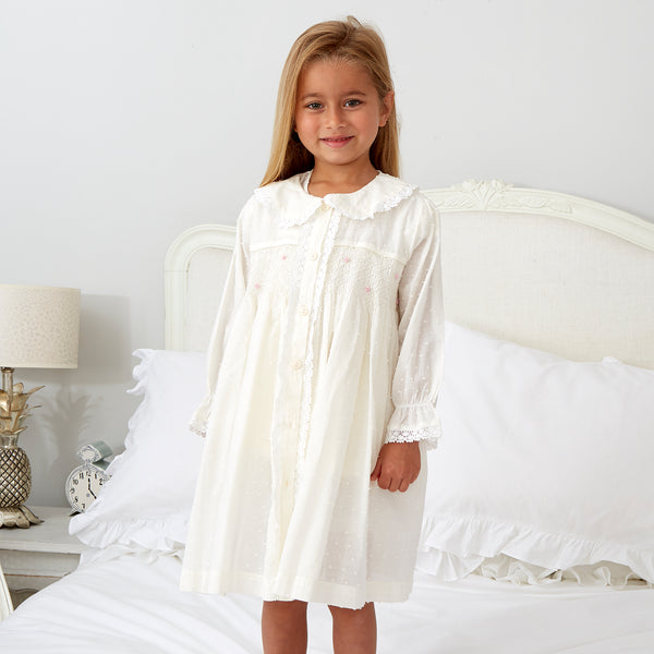 New Ivory Smocked Short Pyjamas