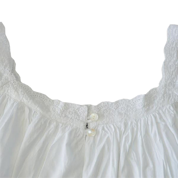 Pure White Ladies Cotton Nightdress
