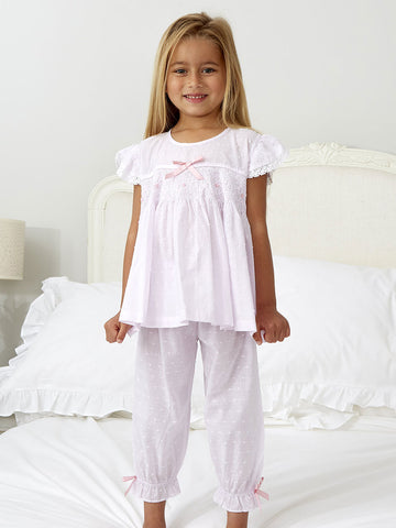 New -Pink/ Lilac Smocked Pyjamas
