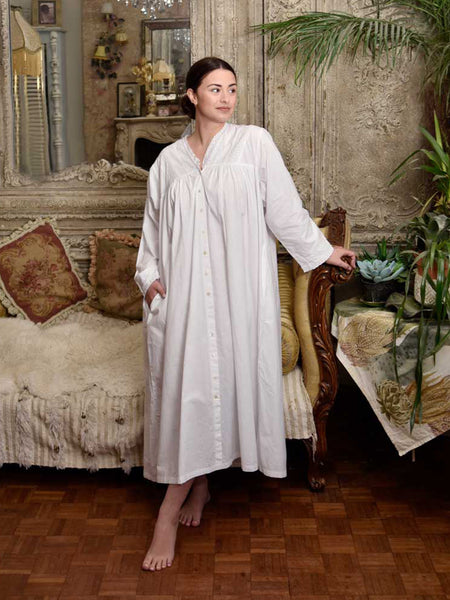 White Lily Cotton Nightdress - Classic Cotton