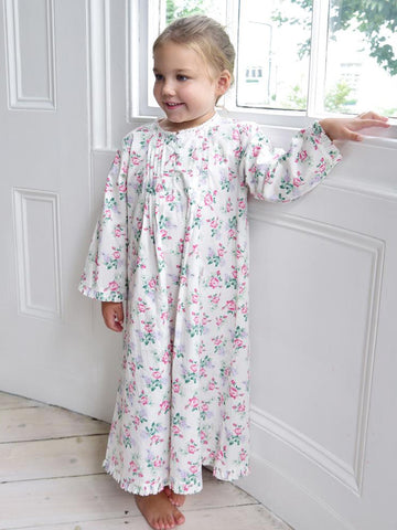 Floral Cotton Girls Nightdress