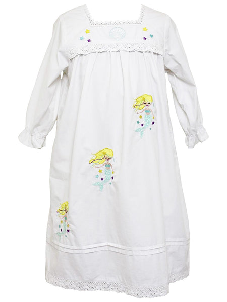 Mermaid - Girls Cotton Nightdress
