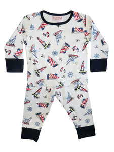 Nautical Print -Jersey Cotton Boys Pyjamas