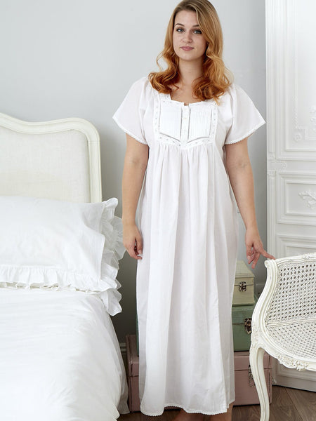 100% Cotton Short Sleeve Ladies Nightdress