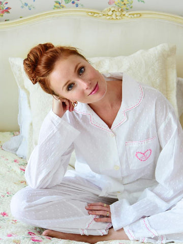 Soft Cotton Swiss Dot Ladies Pyjamas