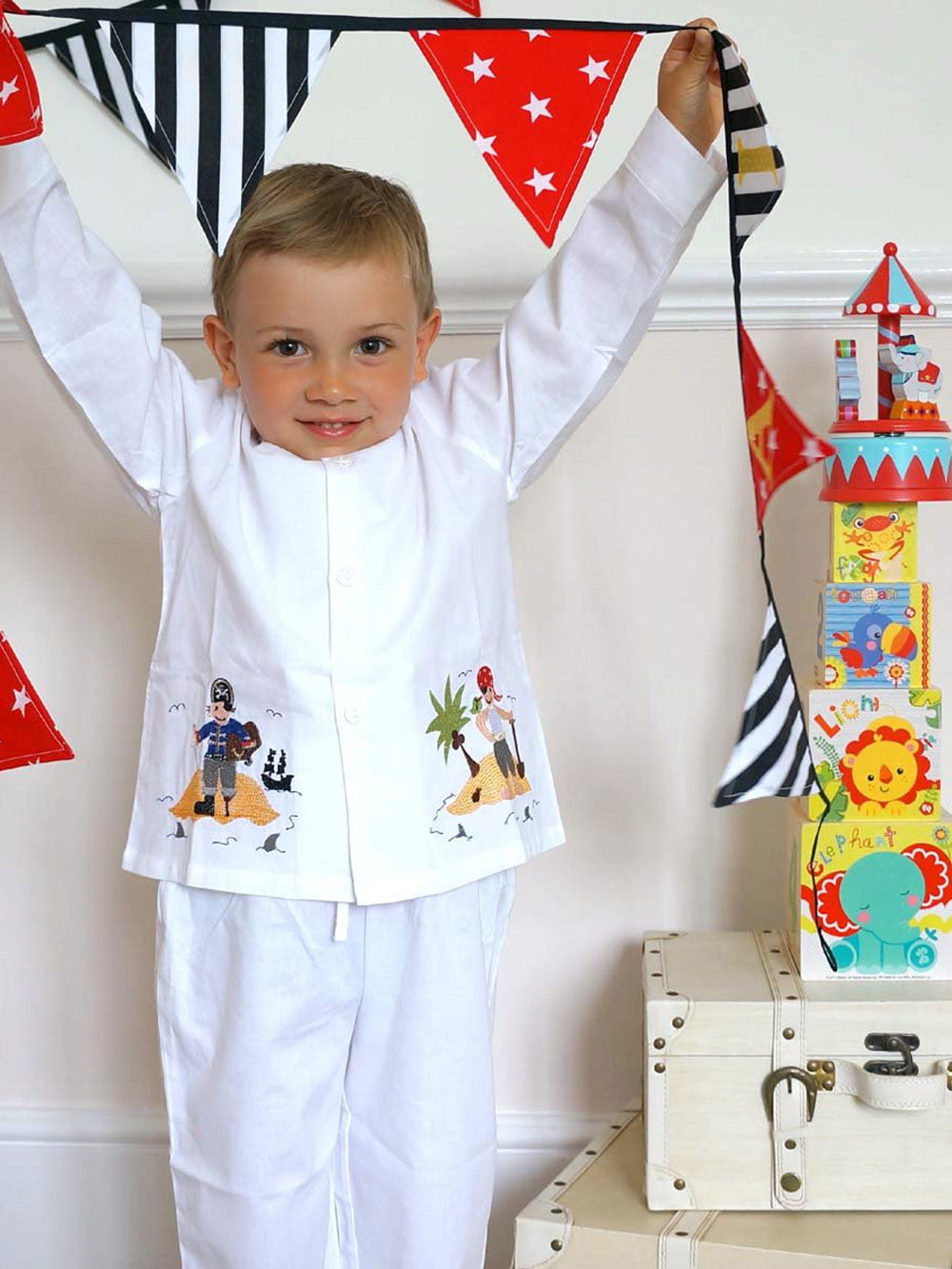Boy Pyjamas - 100% Cotton - Pirate Design