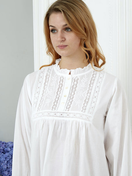 100% Cotton Long Sleeve Ladies Nightdress