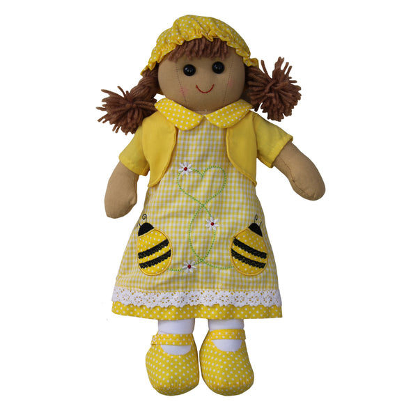 Bumble Bee Rag Doll - Classic Cotton- Children's Toy