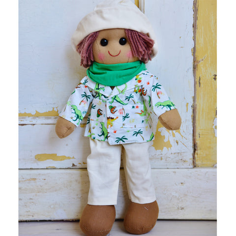 Dinosaur Children's Rag Doll - Classic Cotton