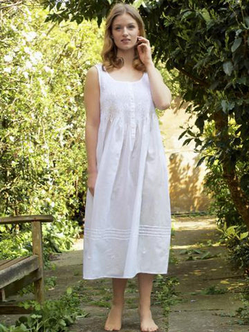 Pure Cotton Sleeveless Ladies Nightdress