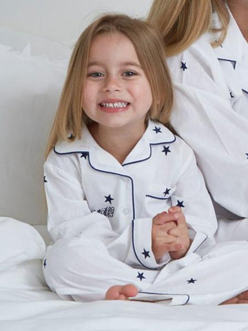 Embroidered Cotton Girls Pyjamas