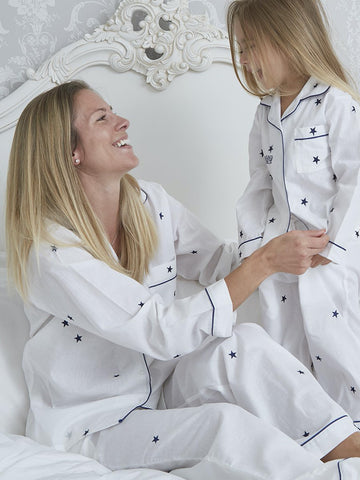 Star Pyjamas - Pure Cotton Ladies Pyjamas
