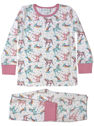 Unicorn Jersey - Girls Cotton Pyjamas