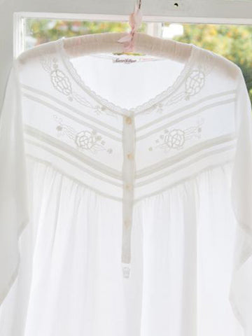 White Cotton Ladies Nightdress