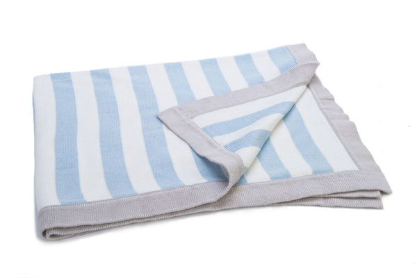 Mimmo Stripy Blue Blanket- Ragtales - Classic Cotton