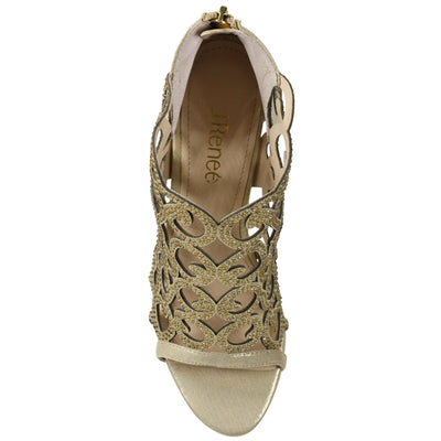J. Renee Mcwayfalls Gold Dress Sandal