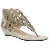 J. Renee Minka Gold Dress Sandal