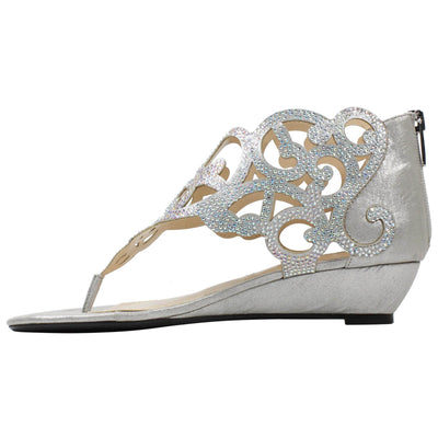 J. Renee Minka Silver Dress Sandal
