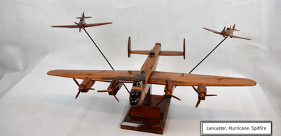 Wooden Aircraft Model - Avro Lancaster,Hawker Hurricane and