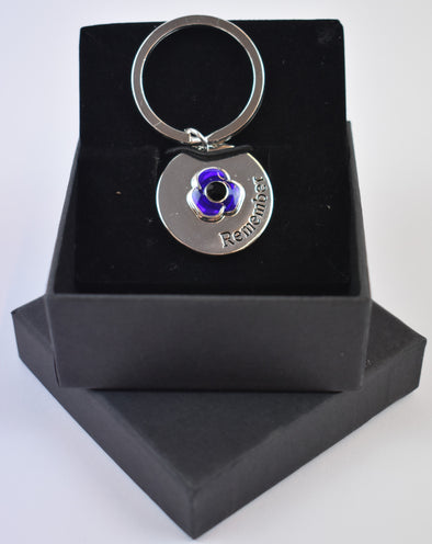 Dog Tag Purple Poppy