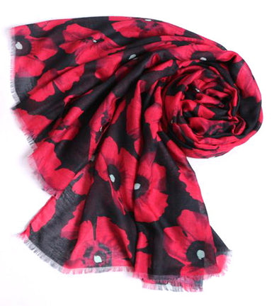 Ladies Scarf Poppy - Black