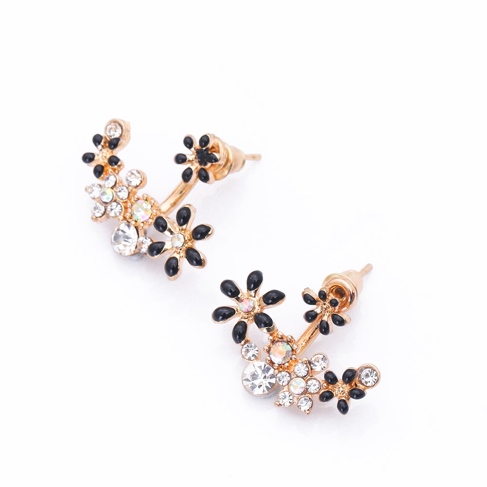 girls double jewelry fashion accessories pearl two from sides crystal earring earrings on ball for stud in trendy item