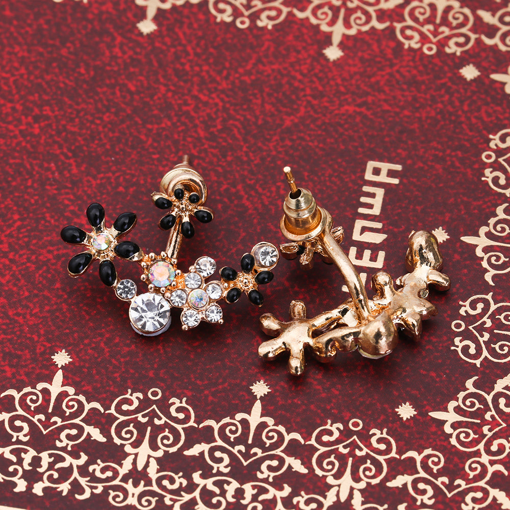 stud charms flower women trendy image earrings pearl charm crystal earring product party products jewelry sale je
