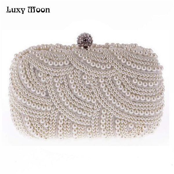 100% Hand made Luxury Pearl Women Purse