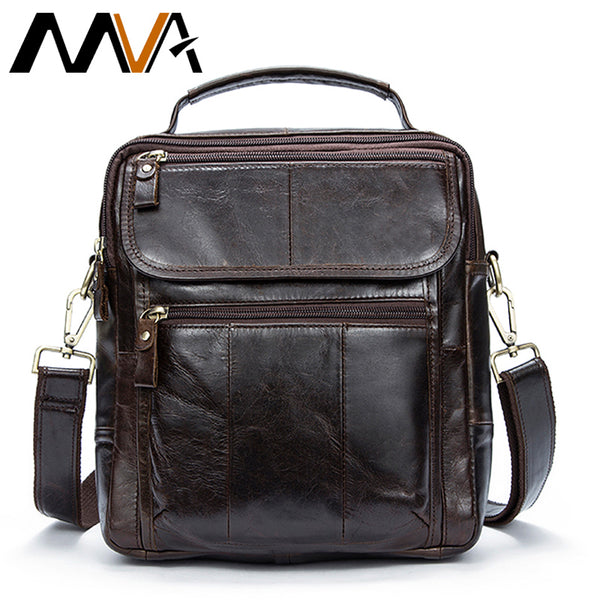 MVA Leather Top-handle Men Messenger Bag