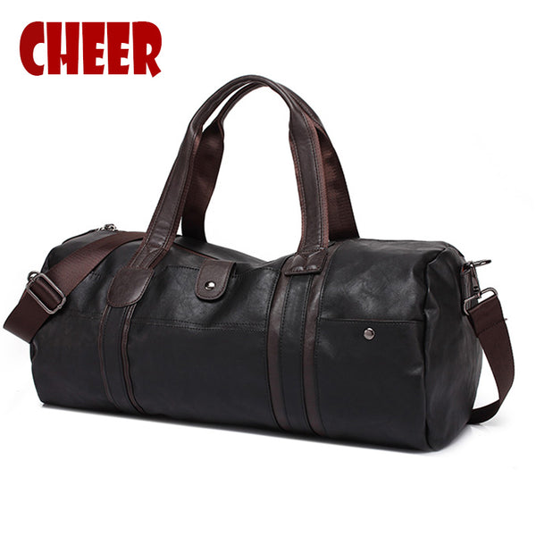 Men Travel Handbags Oil Wax Large Capacity