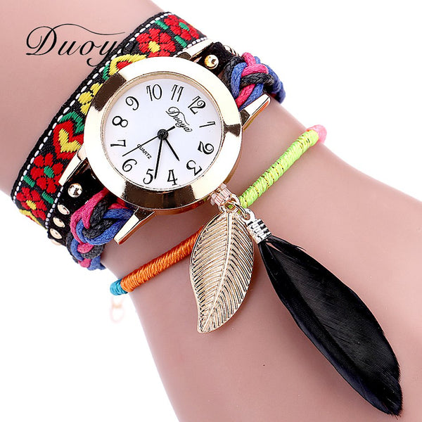 NANCY Leaf Flower Wristwatch