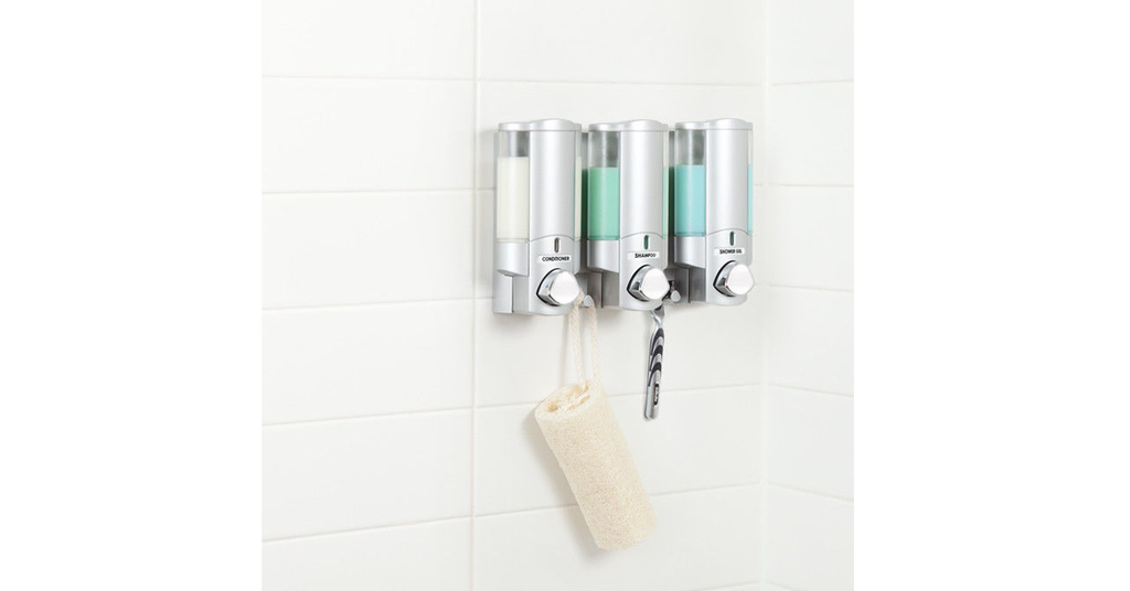 Wall Mount Shampoo and Soap Dispenser