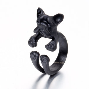 Puppy Wrap Ring Available in Black, Silver or Gold